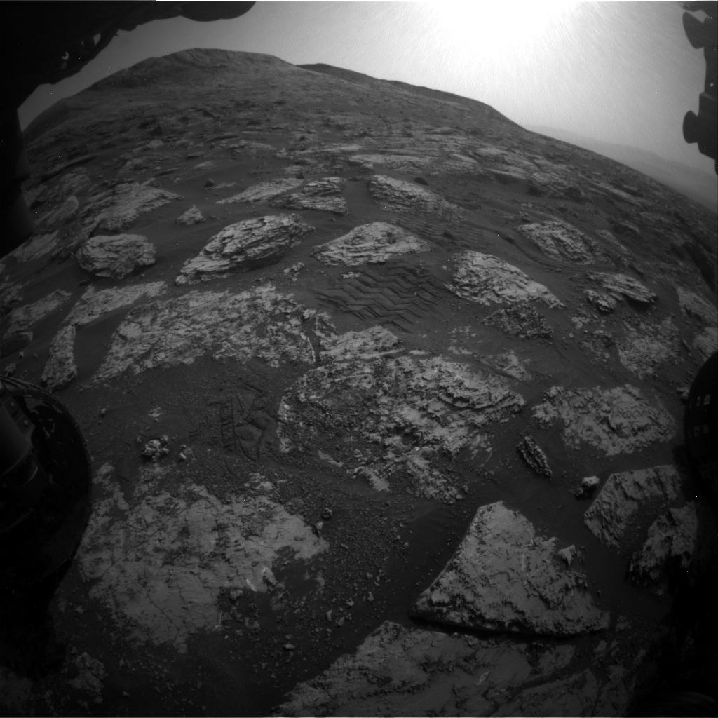 Nasa's Mars rover Curiosity acquired this image using its Front Hazard Avoidance Camera (Front Hazcam) on Sol 2802, at drive 424, site number 81
