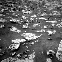 Nasa's Mars rover Curiosity acquired this image using its Left Navigation Camera on Sol 2802, at drive 72, site number 81