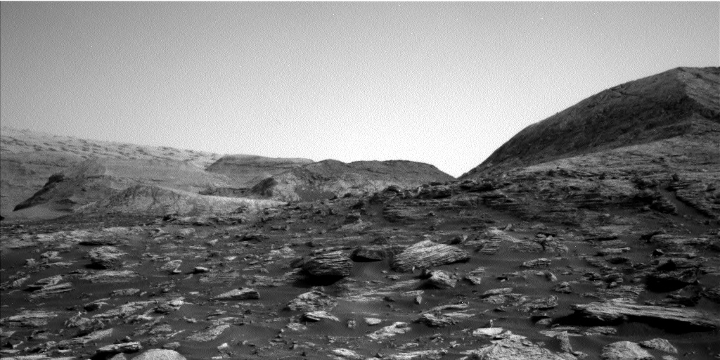 Nasa's Mars rover Curiosity acquired this image using its Left Navigation Camera on Sol 2802, at drive 424, site number 81