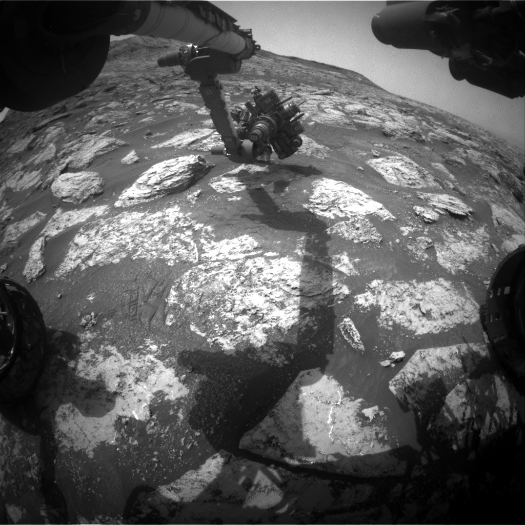 Nasa's Mars rover Curiosity acquired this image using its Front Hazard Avoidance Camera (Front Hazcam) on Sol 2804, at drive 424, site number 81