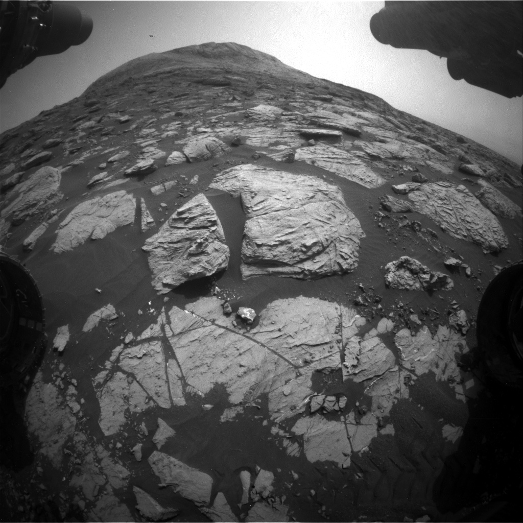 Nasa's Mars rover Curiosity acquired this image using its Front Hazard Avoidance Camera (Front Hazcam) on Sol 2804, at drive 628, site number 81