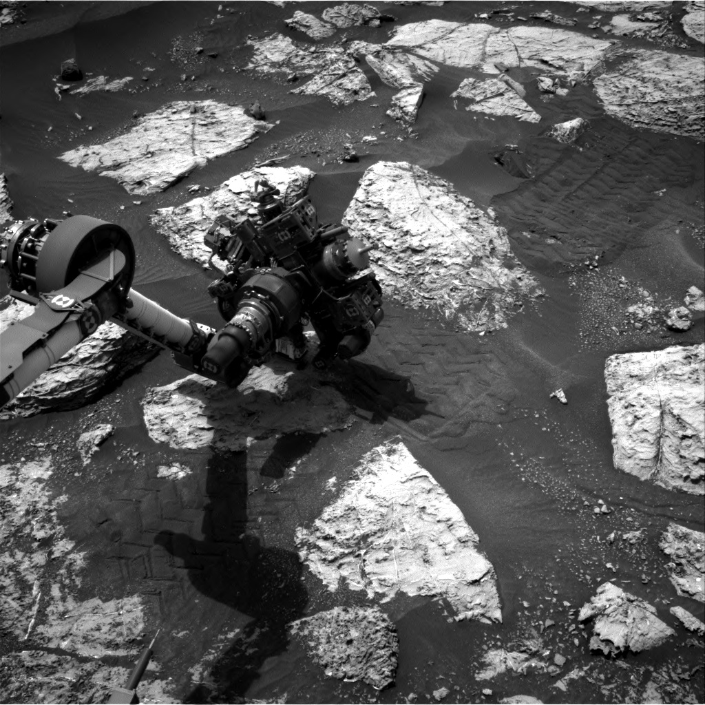 Nasa's Mars rover Curiosity acquired this image using its Right Navigation Camera on Sol 2804, at drive 424, site number 81