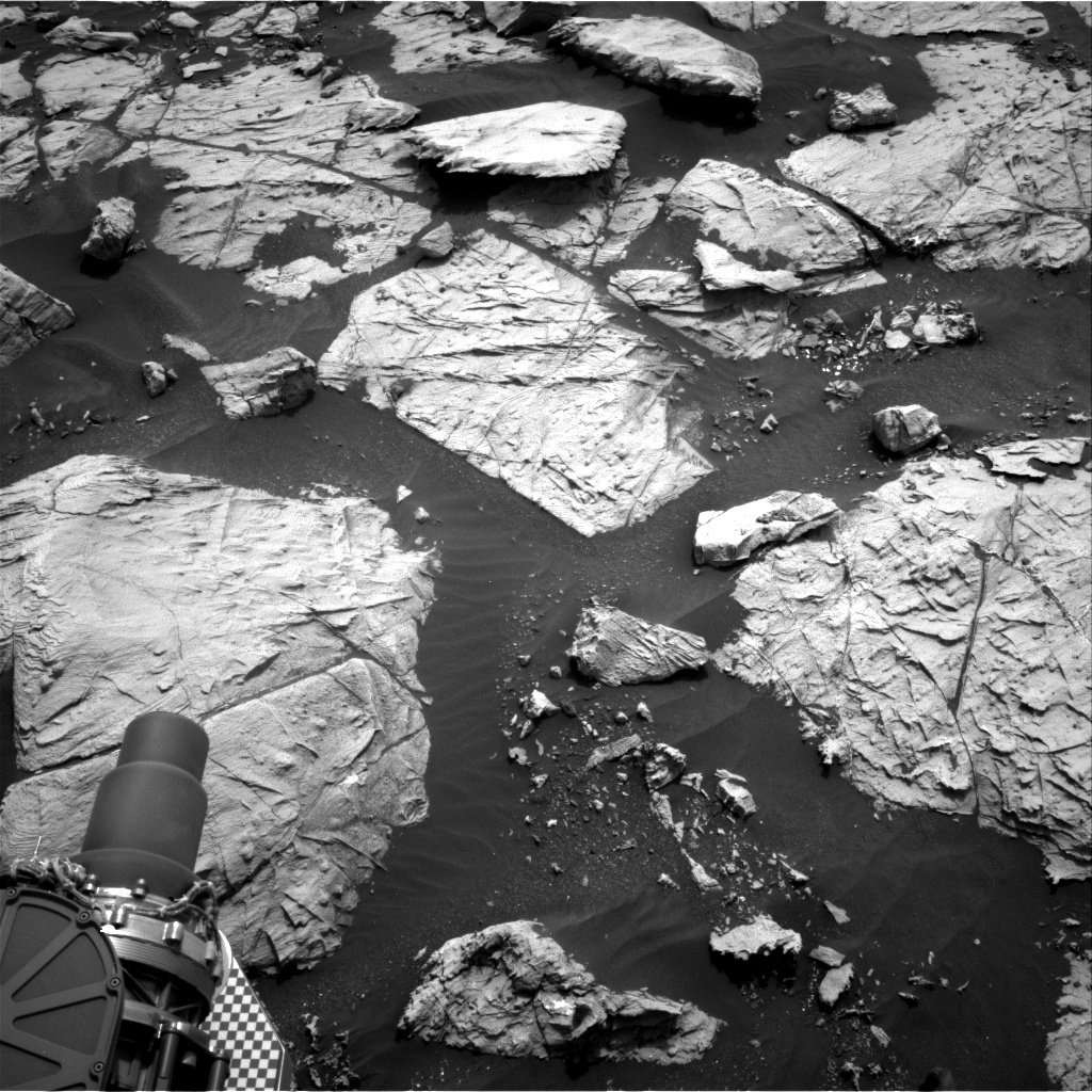 Nasa's Mars rover Curiosity acquired this image using its Right Navigation Camera on Sol 2808, at drive 628, site number 81