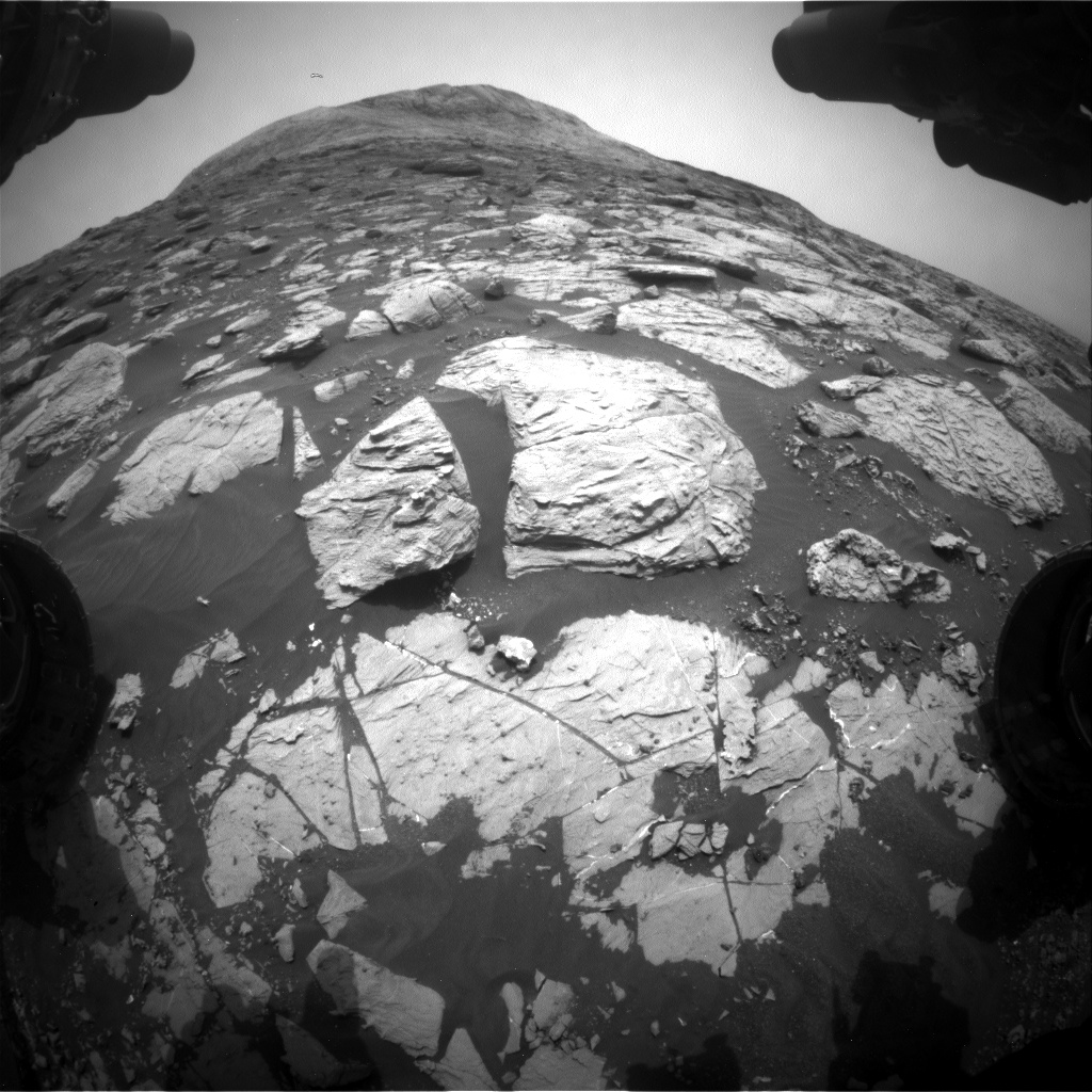 Nasa's Mars rover Curiosity acquired this image using its Front Hazard Avoidance Camera (Front Hazcam) on Sol 2809, at drive 628, site number 81