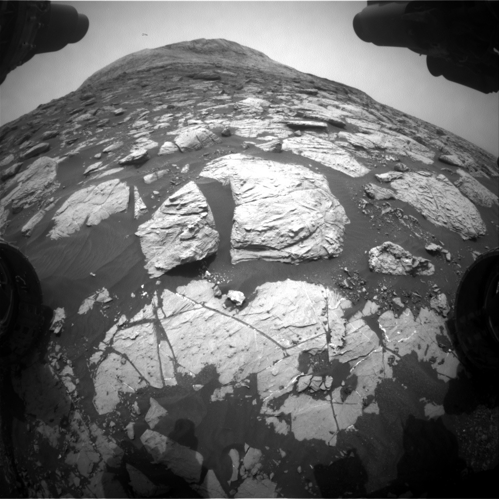 Nasa's Mars rover Curiosity acquired this image using its Front Hazard Avoidance Camera (Front Hazcam) on Sol 2811, at drive 628, site number 81
