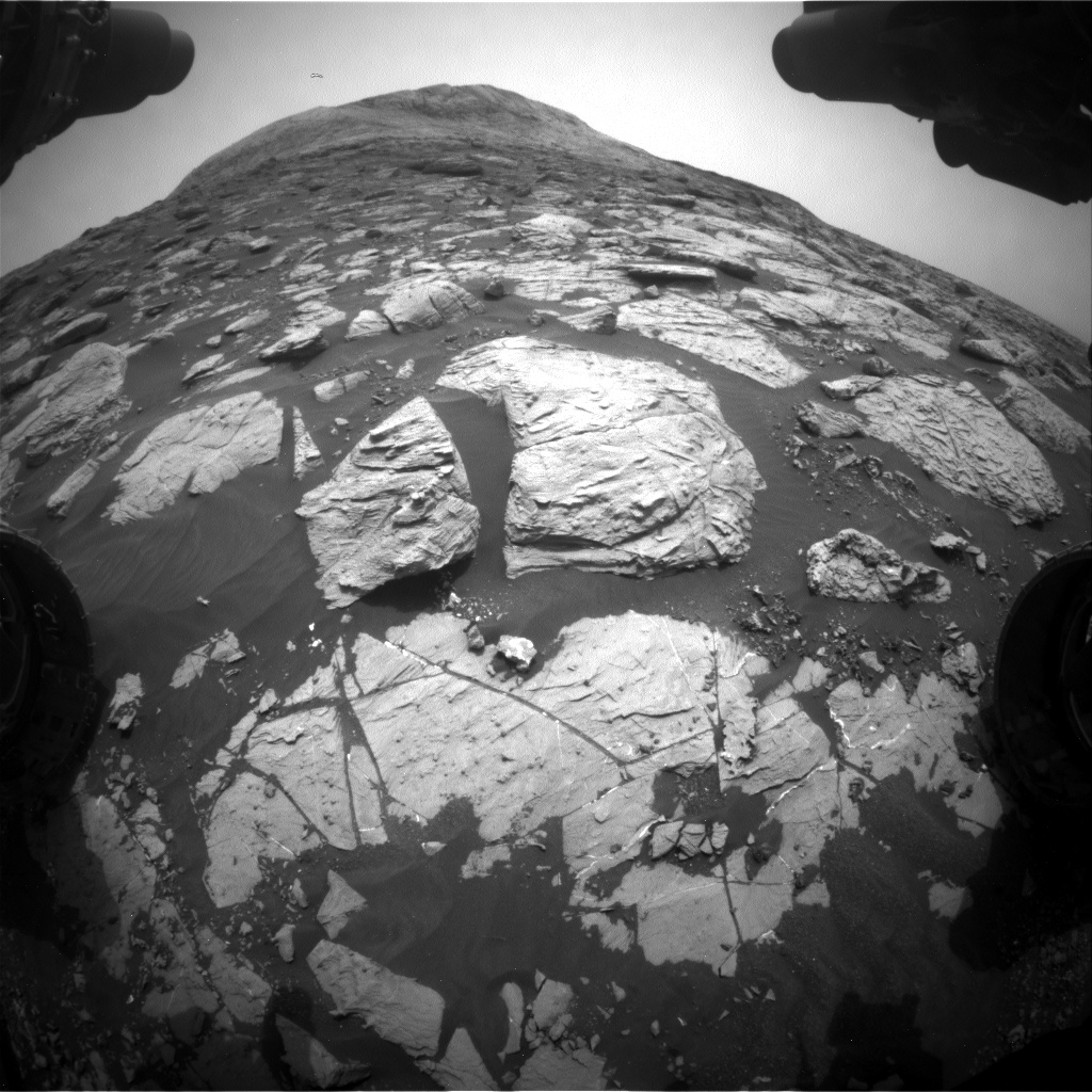 Nasa's Mars rover Curiosity acquired this image using its Front Hazard Avoidance Camera (Front Hazcam) on Sol 2812, at drive 628, site number 81