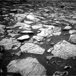 Nasa's Mars rover Curiosity acquired this image using its Left Navigation Camera on Sol 2813, at drive 658, site number 81