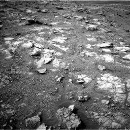 Nasa's Mars rover Curiosity acquired this image using its Left Navigation Camera on Sol 2813, at drive 934, site number 81