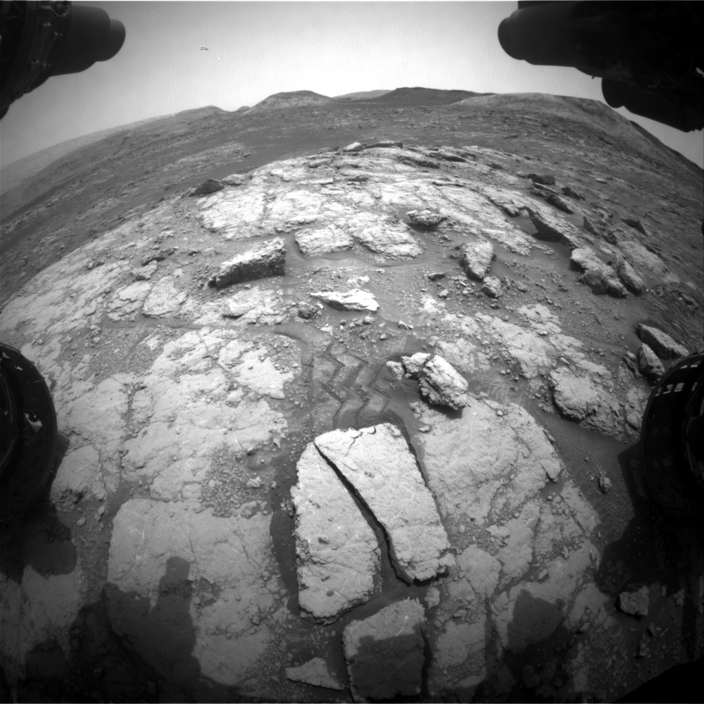 Nasa's Mars rover Curiosity acquired this image using its Front Hazard Avoidance Camera (Front Hazcam) on Sol 2815, at drive 0, site number 82