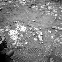 Nasa's Mars rover Curiosity acquired this image using its Left Navigation Camera on Sol 2816, at drive 78, site number 82