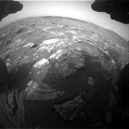 Nasa's Mars rover Curiosity acquired this image using its Front Hazard Avoidance Camera (Front Hazcam) on Sol 2817, at drive 826, site number 82