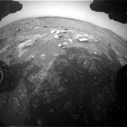 Nasa's Mars rover Curiosity acquired this image using its Front Hazard Avoidance Camera (Front Hazcam) on Sol 2817, at drive 838, site number 82