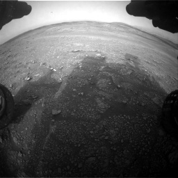 Nasa's Mars rover Curiosity acquired this image using its Front Hazard Avoidance Camera (Front Hazcam) on Sol 2817, at drive 856, site number 82