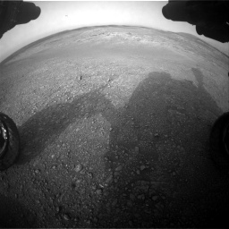 Nasa's Mars rover Curiosity acquired this image using its Front Hazard Avoidance Camera (Front Hazcam) on Sol 2817, at drive 916, site number 82