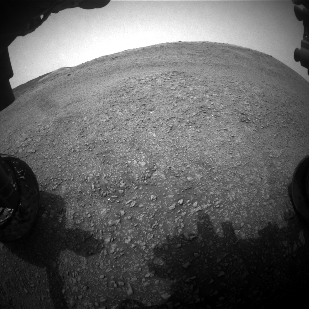 Nasa's Mars rover Curiosity acquired this image using its Front Hazard Avoidance Camera (Front Hazcam) on Sol 2818, at drive 938, site number 82