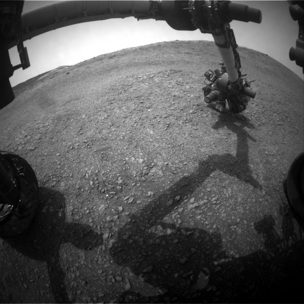 Nasa's Mars rover Curiosity acquired this image using its Front Hazard Avoidance Camera (Front Hazcam) on Sol 2820, at drive 938, site number 82