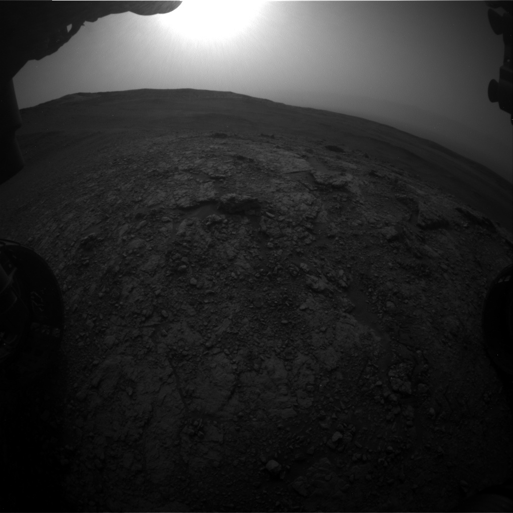 Nasa's Mars rover Curiosity acquired this image using its Front Hazard Avoidance Camera (Front Hazcam) on Sol 2820, at drive 1230, site number 82