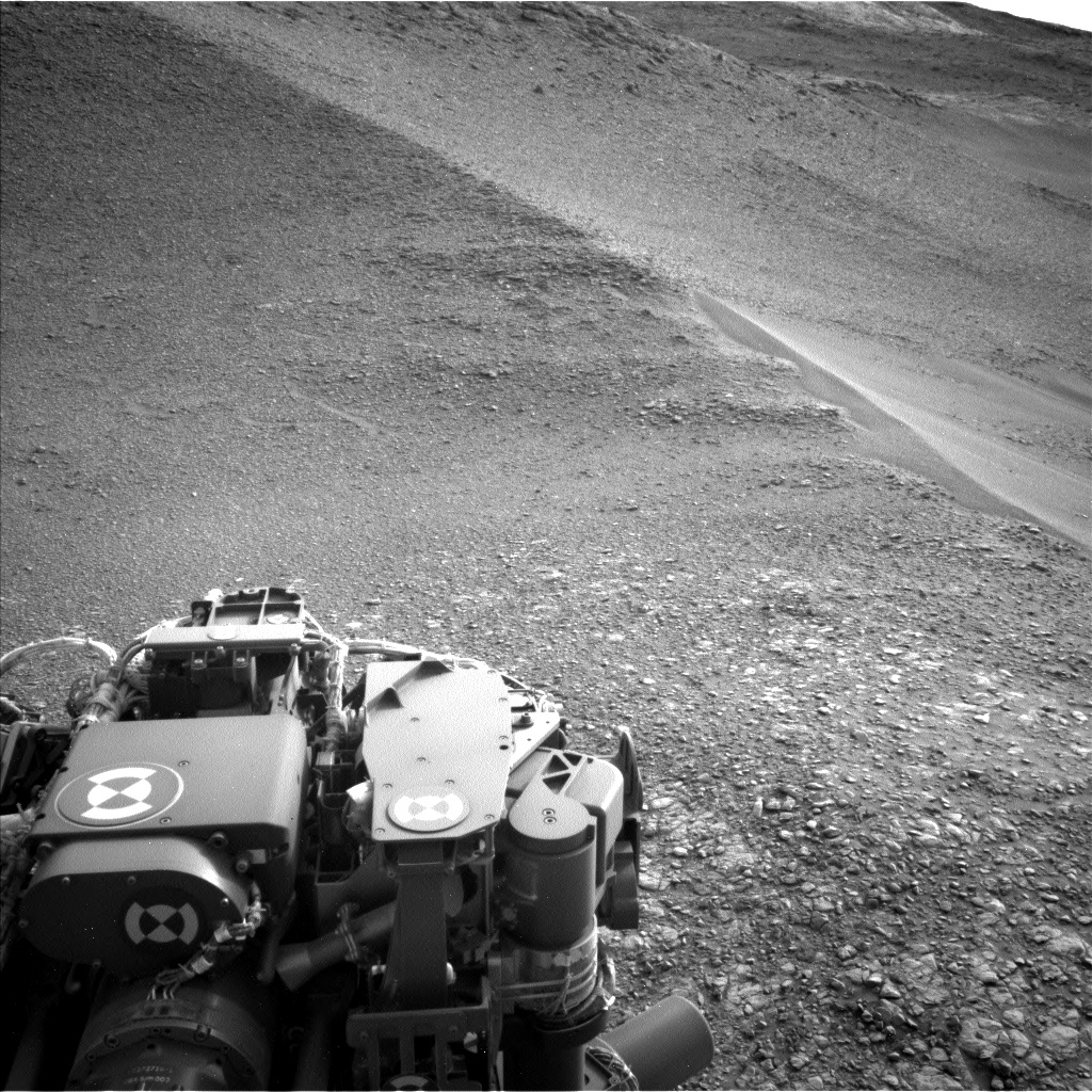 Nasa's Mars rover Curiosity acquired this image using its Left Navigation Camera on Sol 2820, at drive 1230, site number 82