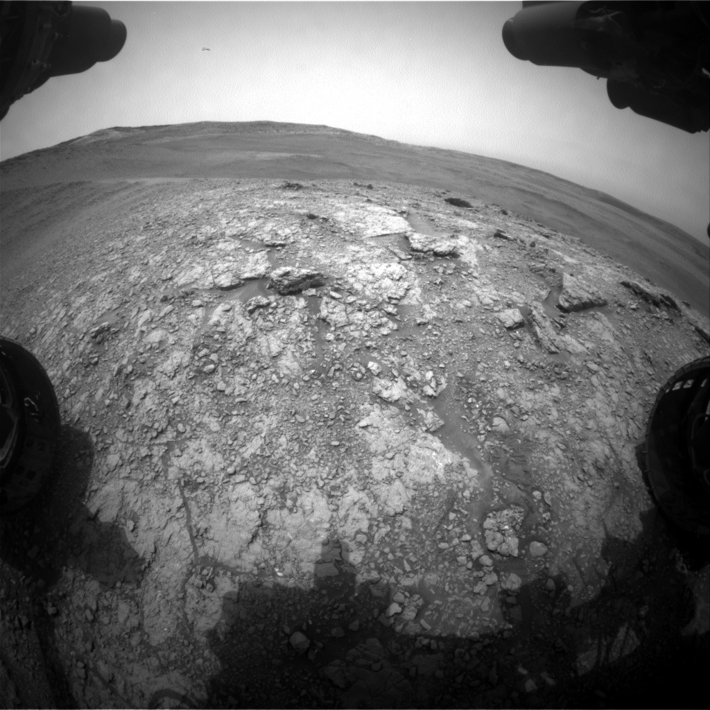 Nasa's Mars rover Curiosity acquired this image using its Front Hazard Avoidance Camera (Front Hazcam) on Sol 2821, at drive 1230, site number 82