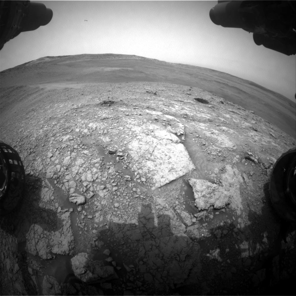 Nasa's Mars rover Curiosity acquired this image using its Front Hazard Avoidance Camera (Front Hazcam) on Sol 2823, at drive 1254, site number 82