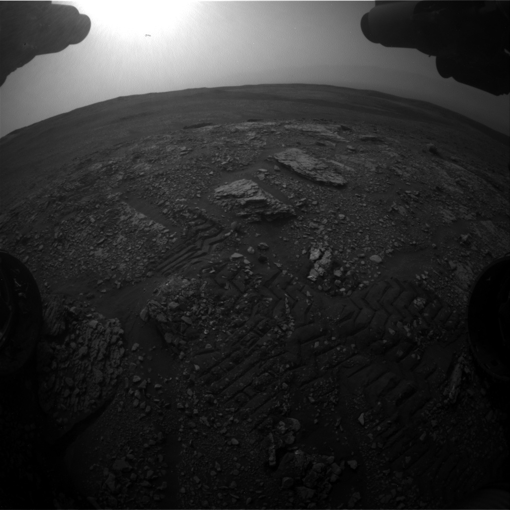 Nasa's Mars rover Curiosity acquired this image using its Front Hazard Avoidance Camera (Front Hazcam) on Sol 2824, at drive 1978, site number 82
