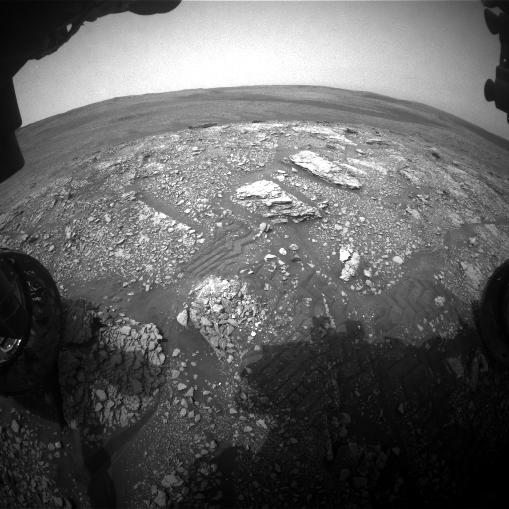 Nasa's Mars rover Curiosity acquired this image using its Front Hazard Avoidance Camera (Front Hazcam) on Sol 2825, at drive 1978, site number 82