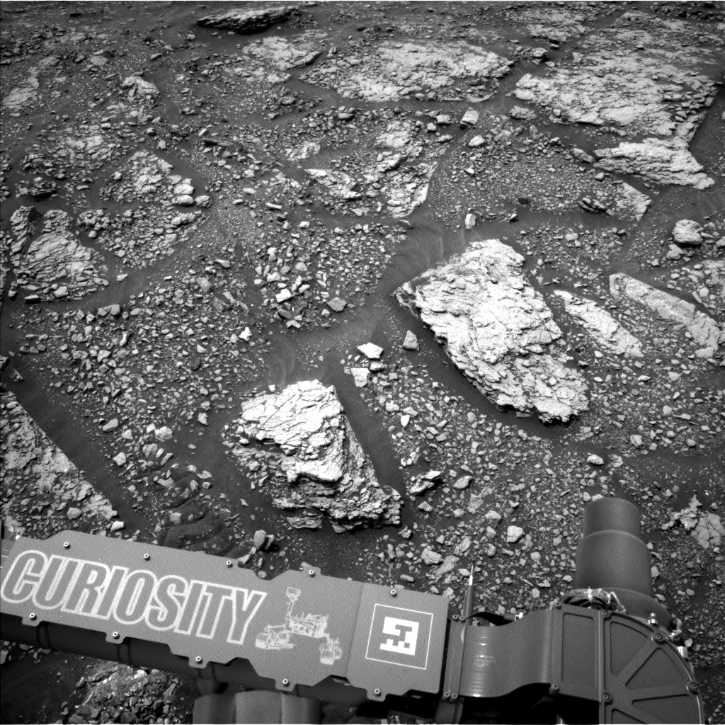 Nasa's Mars rover Curiosity acquired this image using its Left Navigation Camera on Sol 2825, at drive 1978, site number 82