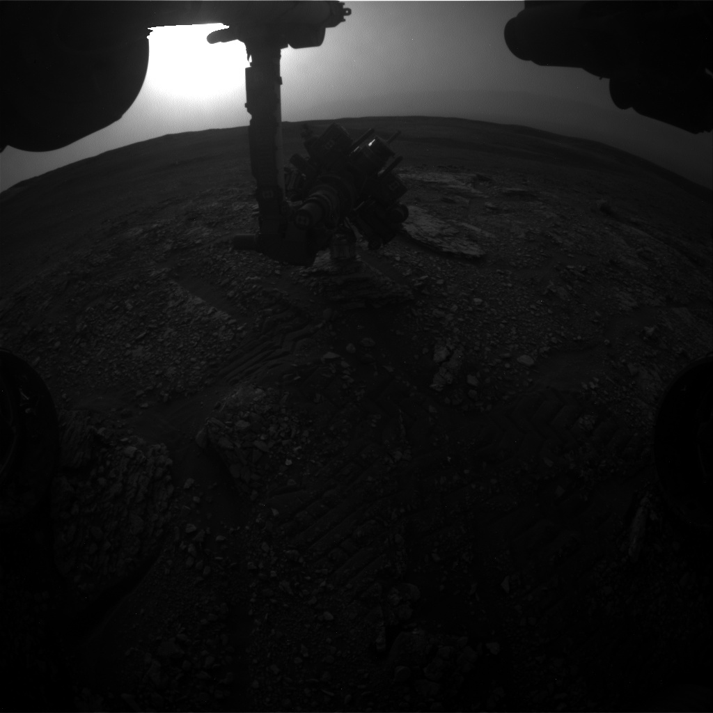 Nasa's Mars rover Curiosity acquired this image using its Front Hazard Avoidance Camera (Front Hazcam) on Sol 2826, at drive 1978, site number 82