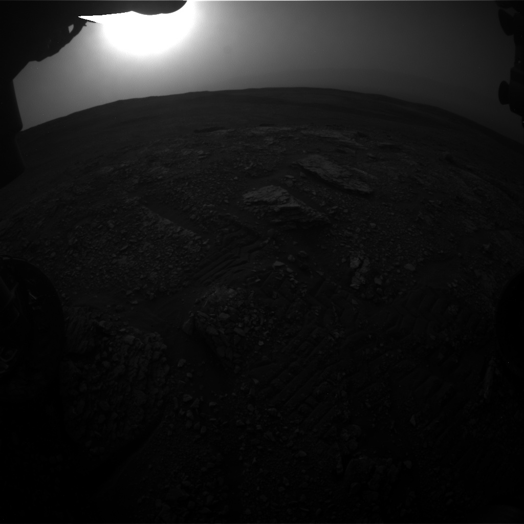 Nasa's Mars rover Curiosity acquired this image using its Front Hazard Avoidance Camera (Front Hazcam) on Sol 2827, at drive 1978, site number 82