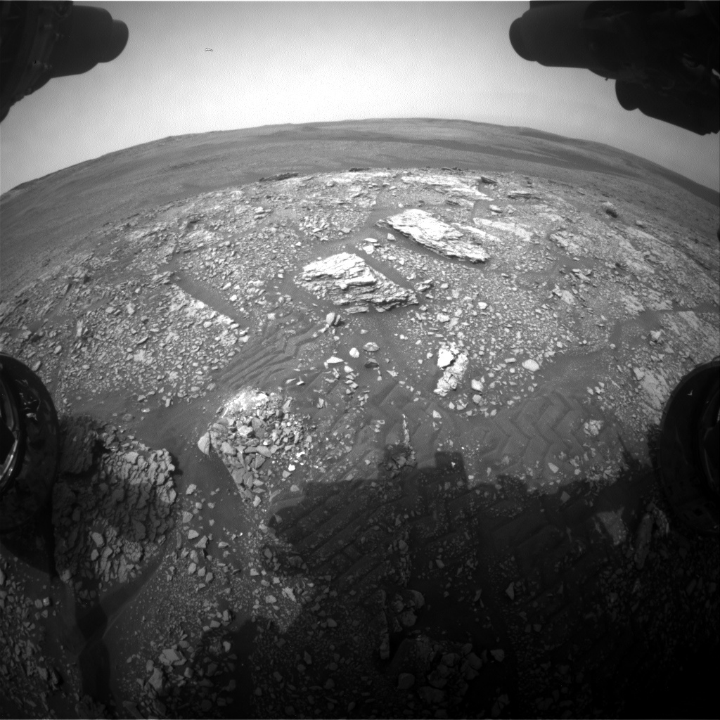 Nasa's Mars rover Curiosity acquired this image using its Front Hazard Avoidance Camera (Front Hazcam) on Sol 2828, at drive 1978, site number 82