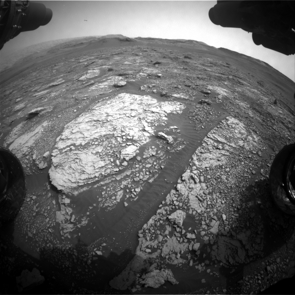Nasa's Mars rover Curiosity acquired this image using its Front Hazard Avoidance Camera (Front Hazcam) on Sol 2829, at drive 2176, site number 82