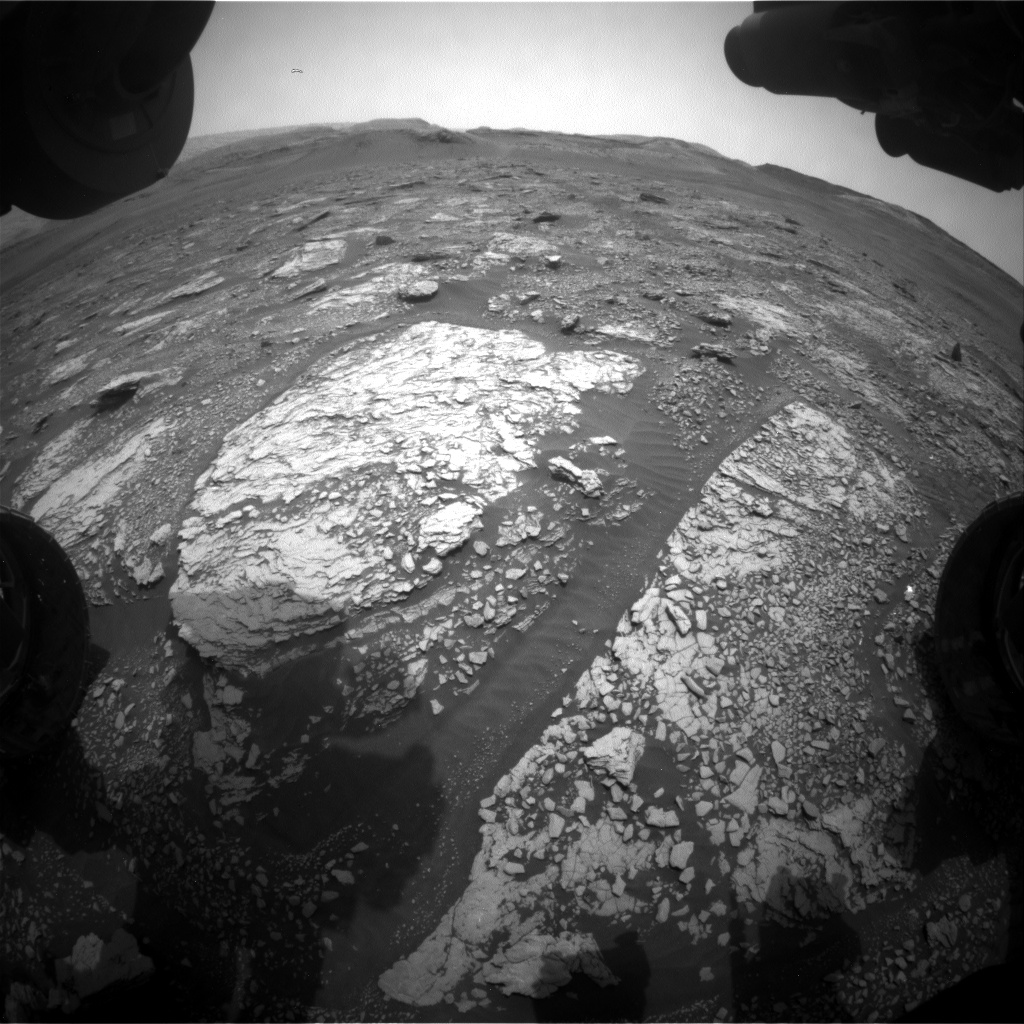 Nasa's Mars rover Curiosity acquired this image using its Front Hazard Avoidance Camera (Front Hazcam) on Sol 2830, at drive 2176, site number 82