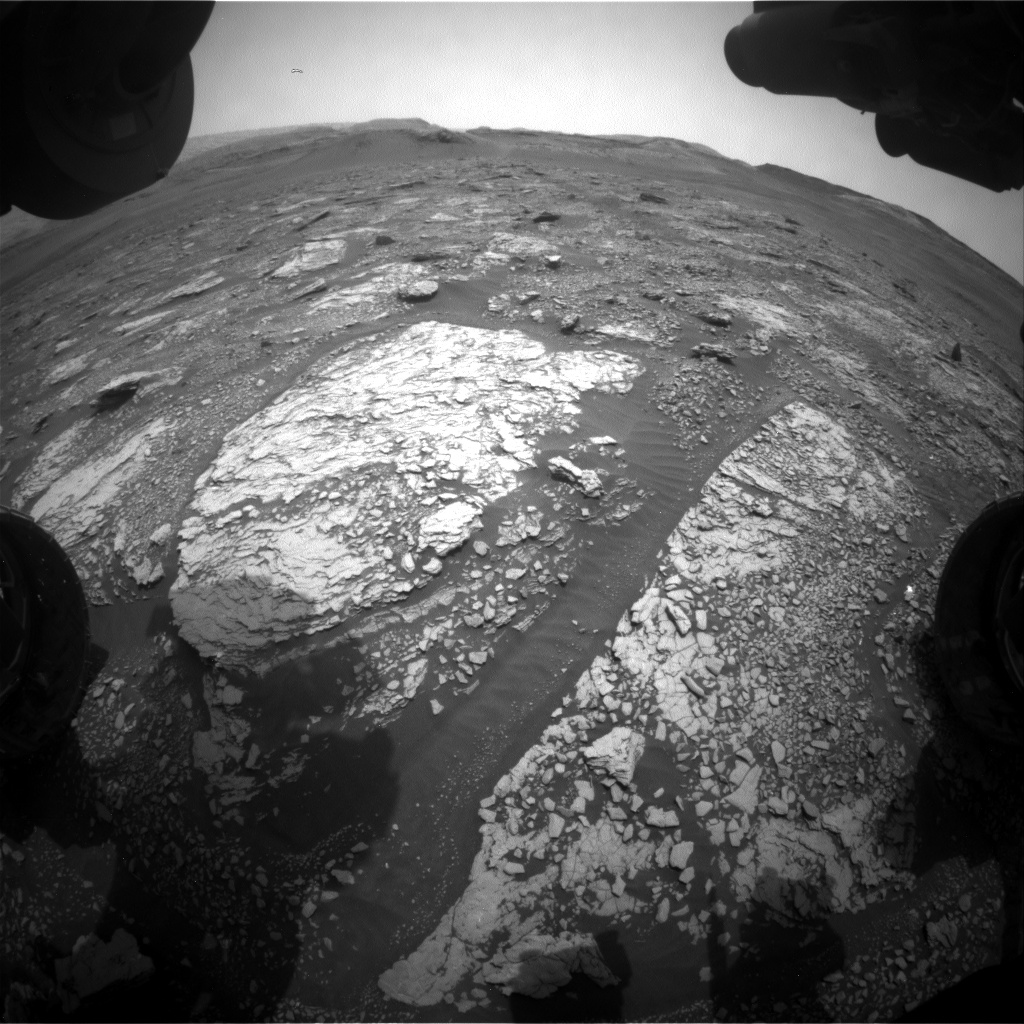 Nasa's Mars rover Curiosity acquired this image using its Front Hazard Avoidance Camera (Front Hazcam) on Sol 2831, at drive 2176, site number 82