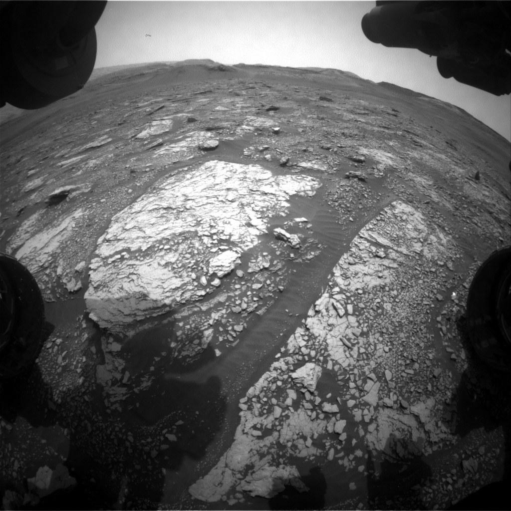 Nasa's Mars rover Curiosity acquired this image using its Front Hazard Avoidance Camera (Front Hazcam) on Sol 2832, at drive 2176, site number 82
