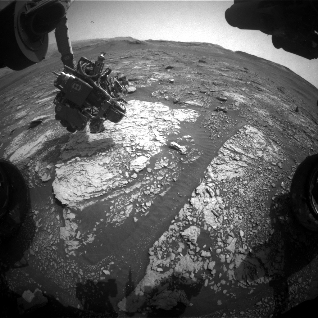 Nasa's Mars rover Curiosity acquired this image using its Front Hazard Avoidance Camera (Front Hazcam) on Sol 2836, at drive 2176, site number 82