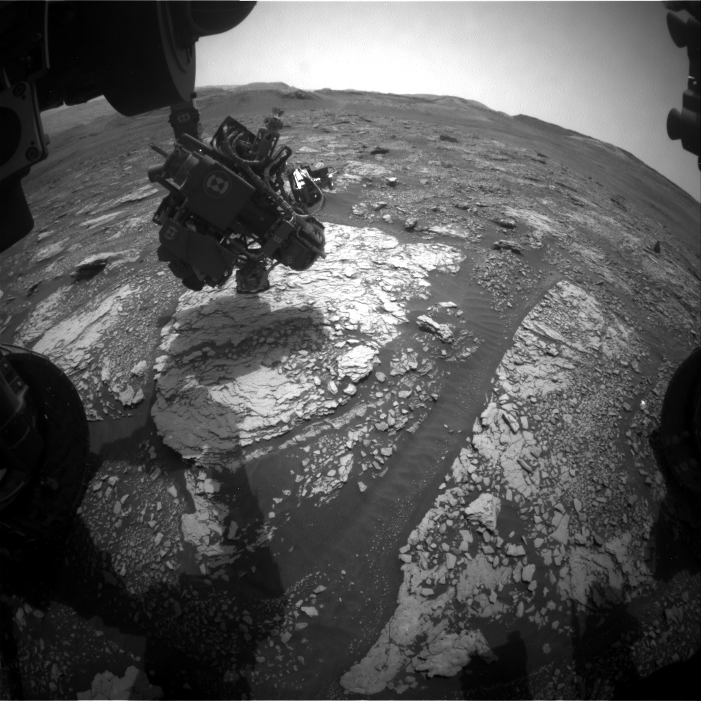 Nasa's Mars rover Curiosity acquired this image using its Front Hazard Avoidance Camera (Front Hazcam) on Sol 2837, at drive 2176, site number 82
