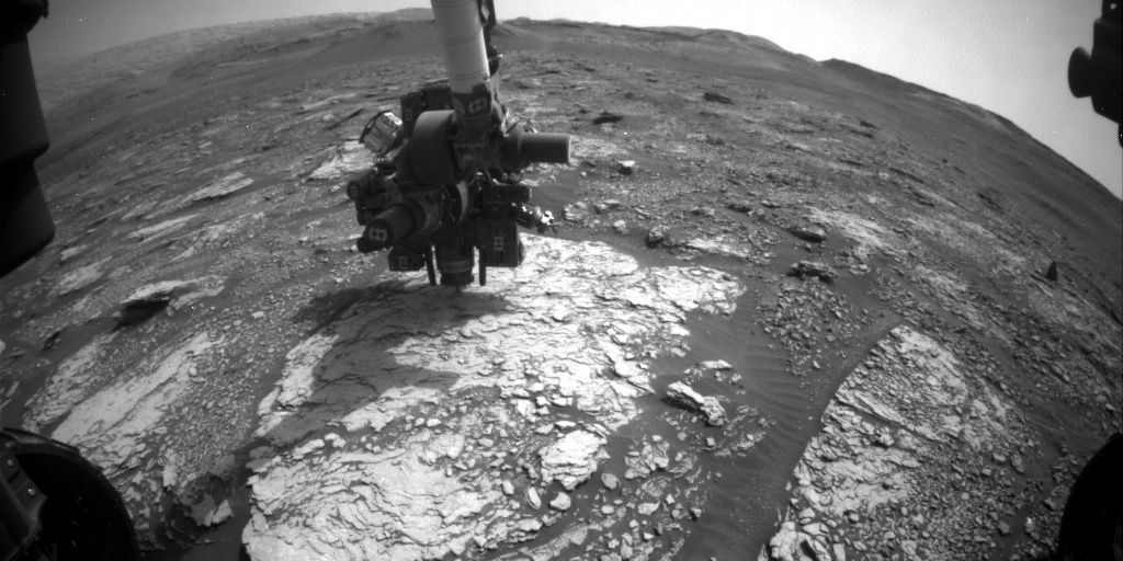 Nasa's Mars rover Curiosity acquired this image using its Front Hazard Avoidance Camera (Front Hazcam) on Sol 2838, at drive 2176, site number 82