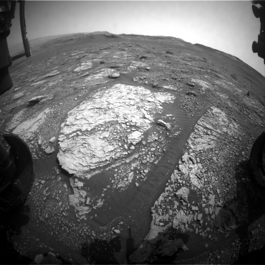 Nasa's Mars rover Curiosity acquired this image using its Front Hazard Avoidance Camera (Front Hazcam) on Sol 2839, at drive 2176, site number 82