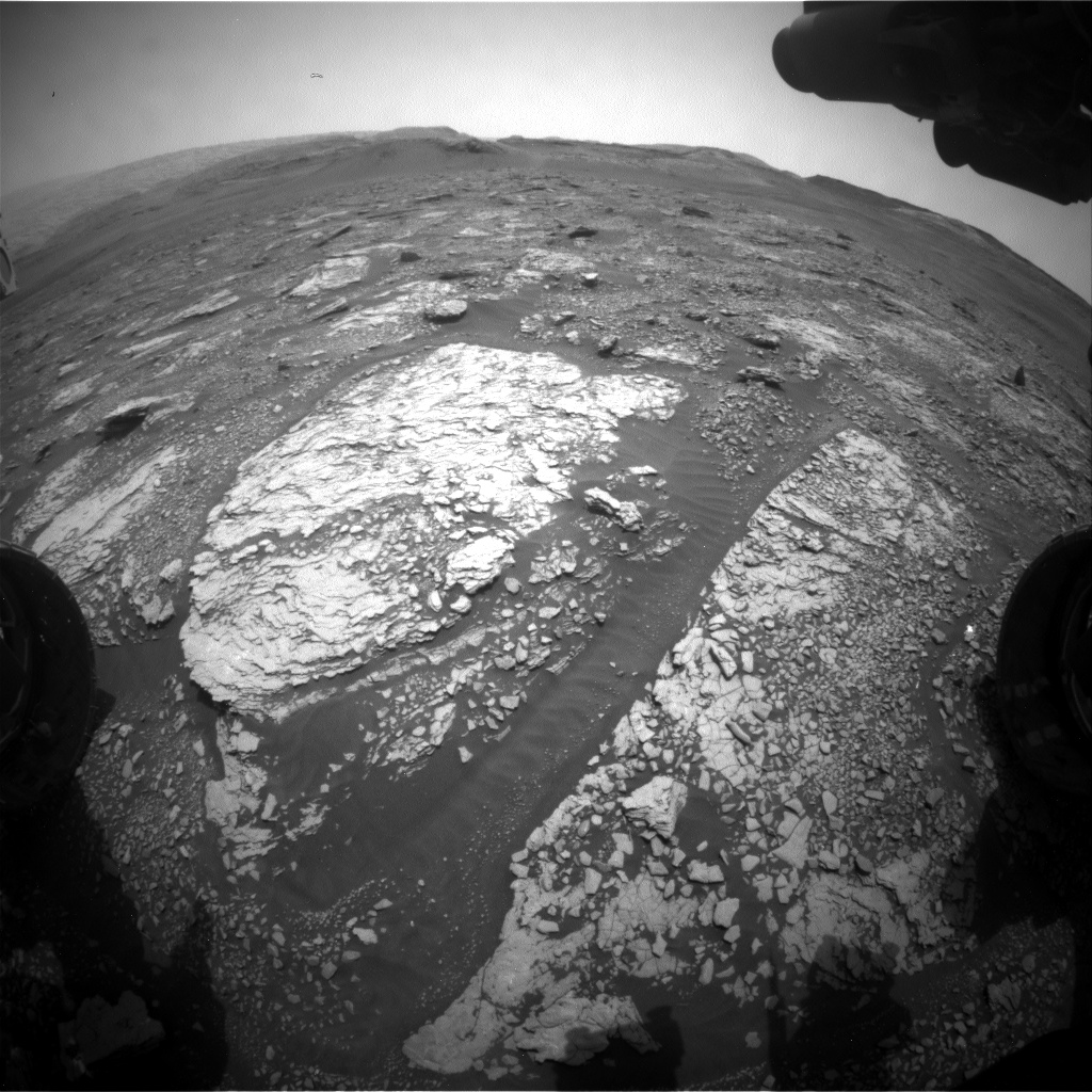 Nasa's Mars rover Curiosity acquired this image using its Front Hazard Avoidance Camera (Front Hazcam) on Sol 2840, at drive 2176, site number 82