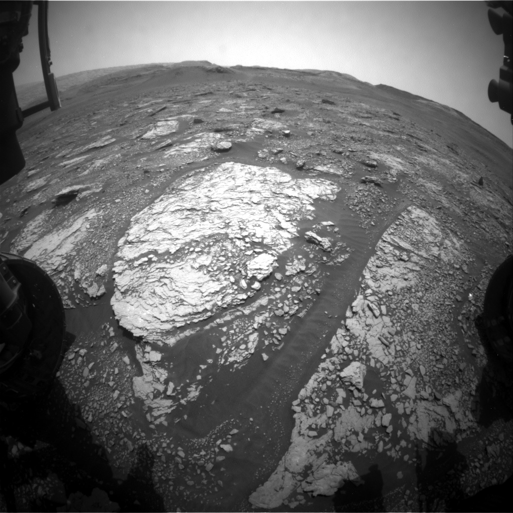 Nasa's Mars rover Curiosity acquired this image using its Front Hazard Avoidance Camera (Front Hazcam) on Sol 2841, at drive 2176, site number 82