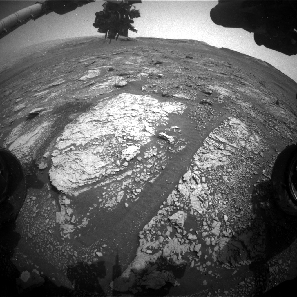 Nasa's Mars rover Curiosity acquired this image using its Front Hazard Avoidance Camera (Front Hazcam) on Sol 2842, at drive 2176, site number 82