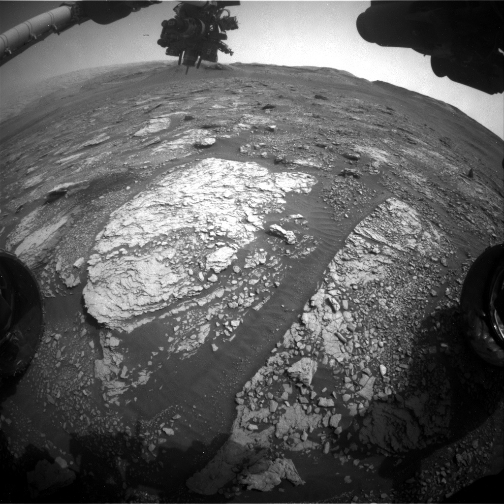 Nasa's Mars rover Curiosity acquired this image using its Front Hazard Avoidance Camera (Front Hazcam) on Sol 2844, at drive 2176, site number 82