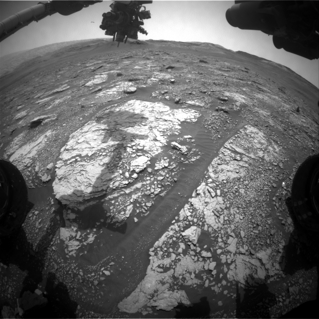 Nasa's Mars rover Curiosity acquired this image using its Front Hazard Avoidance Camera (Front Hazcam) on Sol 2848, at drive 2176, site number 82