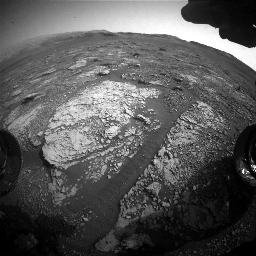 Nasa's Mars rover Curiosity acquired this image using its Front Hazard Avoidance Camera (Front Hazcam) on Sol 2850, at drive 2176, site number 82