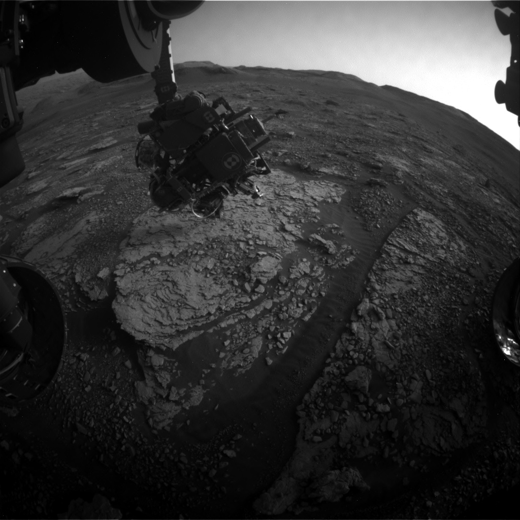 Nasa's Mars rover Curiosity acquired this image using its Front Hazard Avoidance Camera (Front Hazcam) on Sol 2851, at drive 2176, site number 82