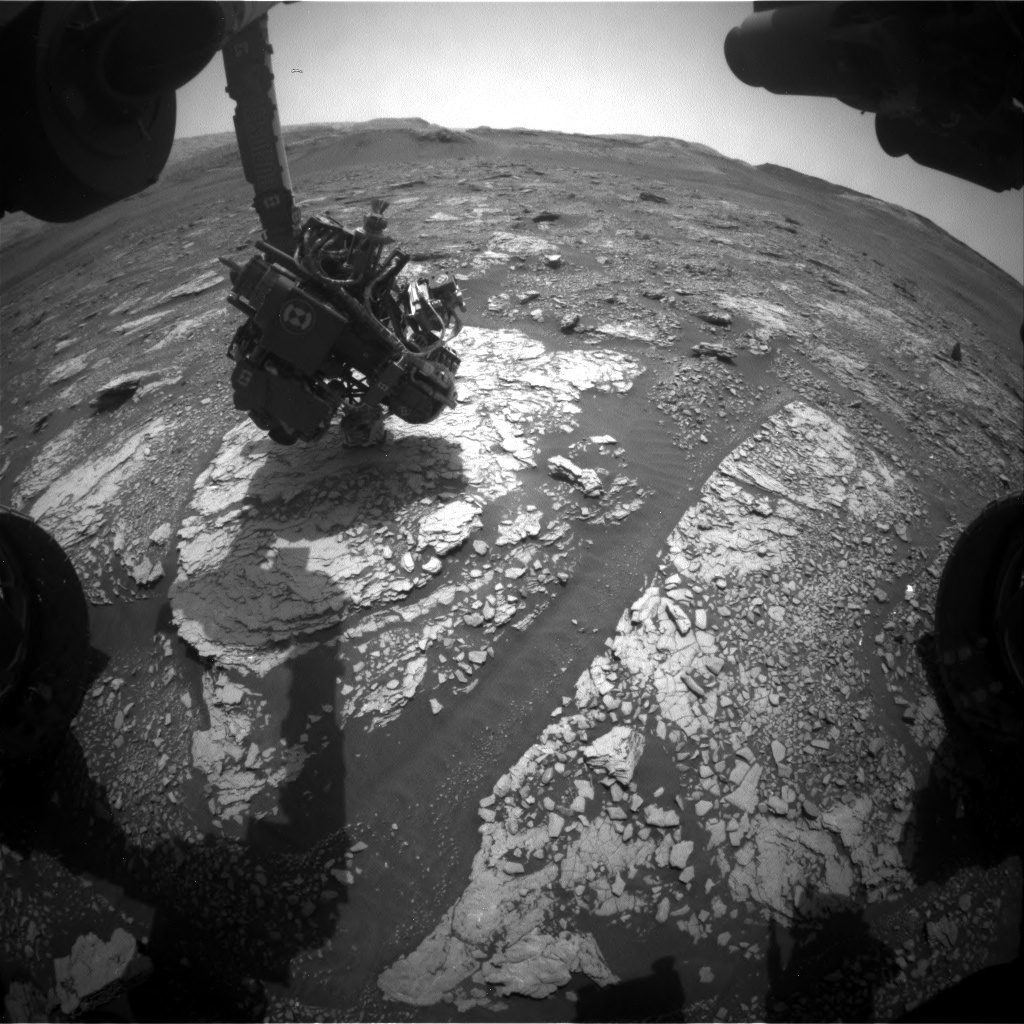 Nasa's Mars rover Curiosity acquired this image using its Front Hazard Avoidance Camera (Front Hazcam) on Sol 2852, at drive 2176, site number 82