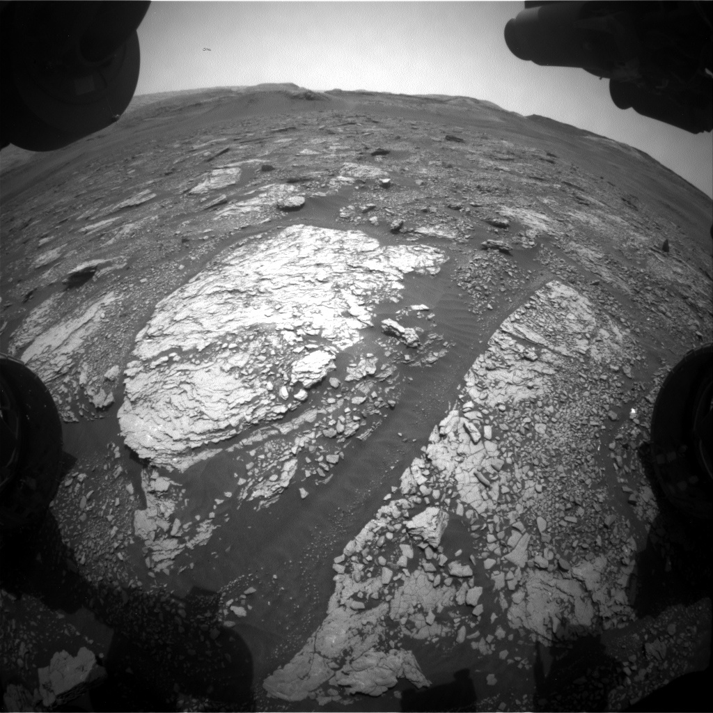 Nasa's Mars rover Curiosity acquired this image using its Front Hazard Avoidance Camera (Front Hazcam) on Sol 2855, at drive 2176, site number 82