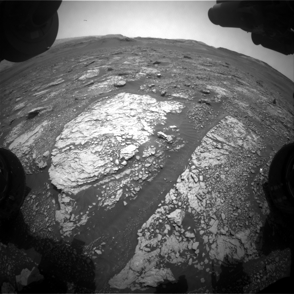 Nasa's Mars rover Curiosity acquired this image using its Front Hazard Avoidance Camera (Front Hazcam) on Sol 2856, at drive 2176, site number 82