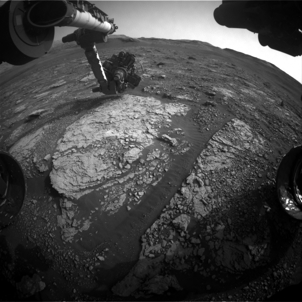 Nasa's Mars rover Curiosity acquired this image using its Front Hazard Avoidance Camera (Front Hazcam) on Sol 2857, at drive 2176, site number 82