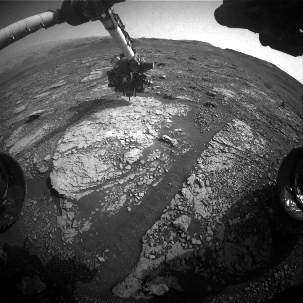 Nasa's Mars rover Curiosity acquired this image using its Front Hazard Avoidance Camera (Front Hazcam) on Sol 2858, at drive 2176, site number 82